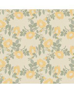 captain-cook-tafelzeil-160cm-wildflowers-oyster-geel-groen-roos-bloemen-natuur-fris