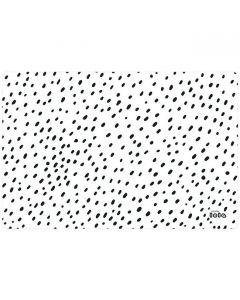 lola-placemats-afwasbaar-wit-zwart-stippen-vlekken-speels-vrolijk-stijlvol