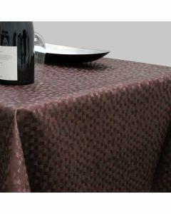 polyline-bruin-luxetafelzeil-afwasbaar-stijlvol-feestelijk-klassiek-ruitjes